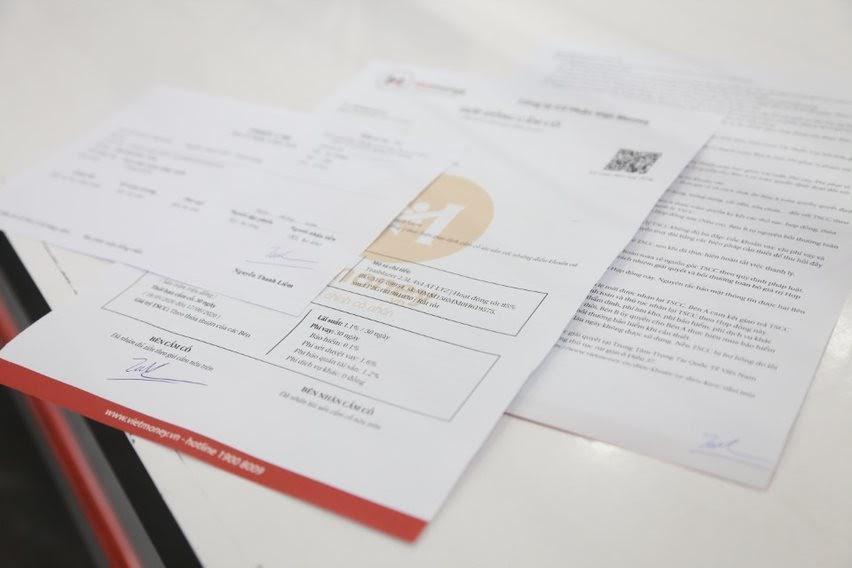 hợp đồng dịch vụ cho vay tiền mặt vốn không chứng minh thu nhập