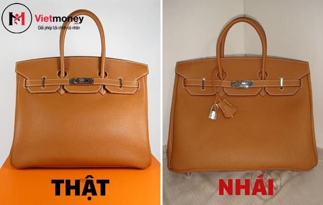 phân biệt túi thật giả bằng logo